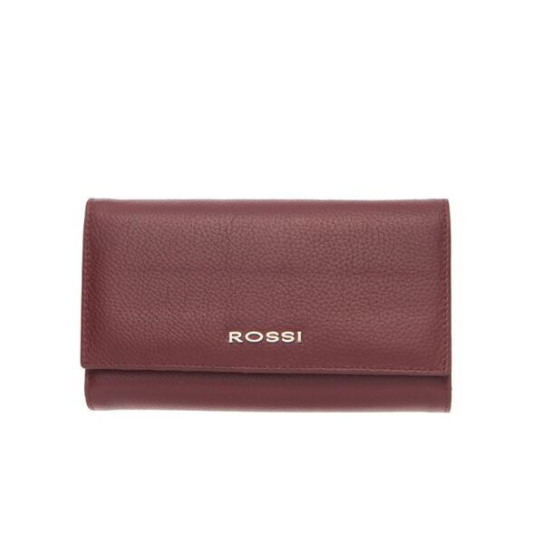 Дамско портмоне ROSSI, цвят бордо, с монетник
