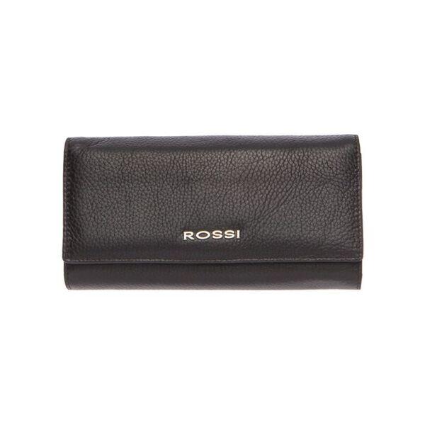 Дамско портмоне ROSSI, цвят тъмно кафе, 11 отделения за карти и монетник