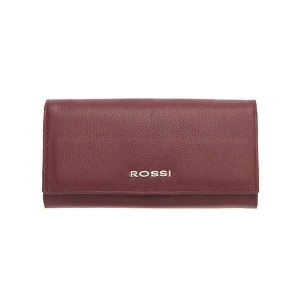 Дамско портмоне ROSSI, цвят тъмно червен, с монетник