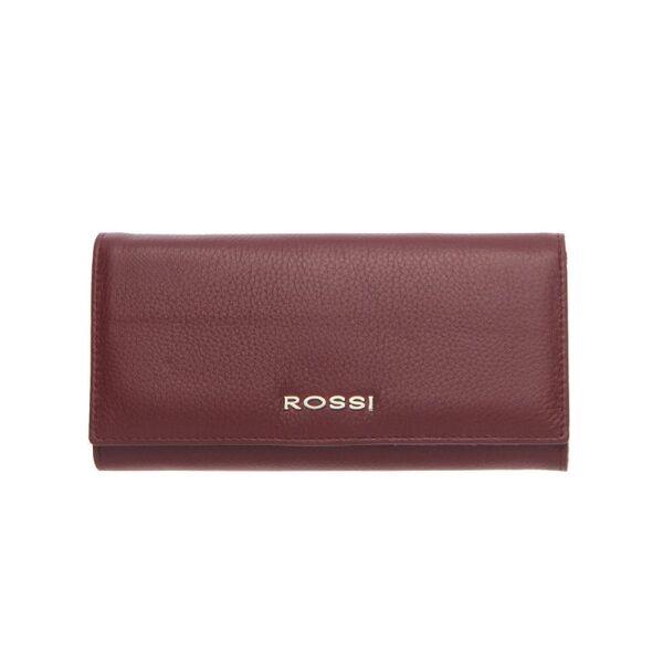 Дамско портмоне ROSSI, цвят тъмно червен