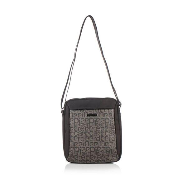 Мъжка чанта Pierre Cardin черно и тъмно кафяво, текстил