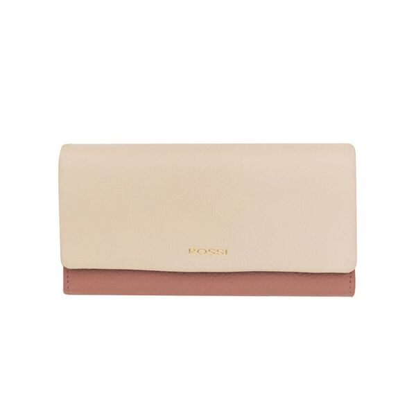 Дамско портмоне ROSSI, цвят корал