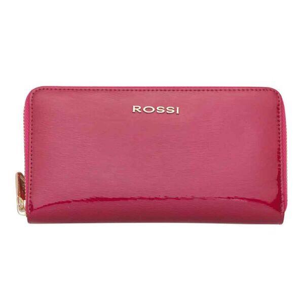 Дамско портмоне ROSSI, цвят малина гланцов