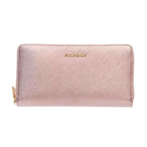 Дамско портмоне ROSSI, Сафиано в цвят Блестящо Розово