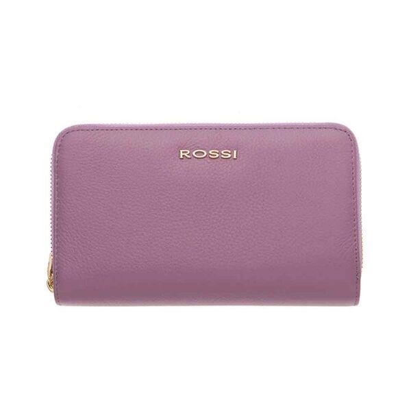 Дамско портмоне ROSSI,с двоен цип - цвят Лавандула