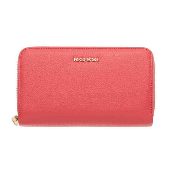 Дамско портмоне ROSSI,с двоен цип - цвят Роза