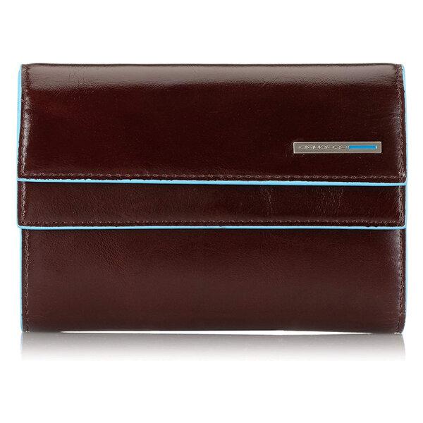 Дамски портфейл Piquadro с 11 отделения за кредитни карти и двойно прихлупване