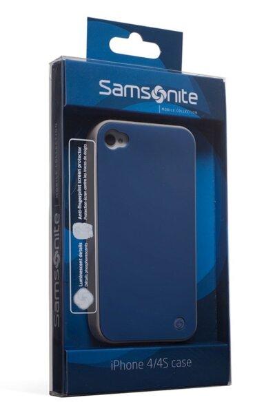 Заден протектор Samsonite - iLuminor, за iPhone 4/4s, син