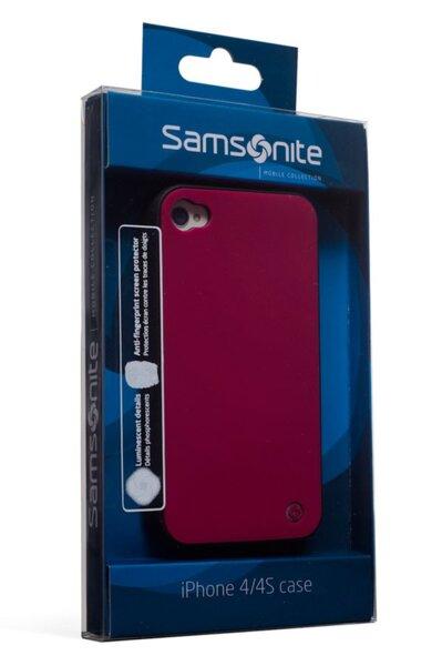 Заден протектор Samsonite - iLuminor, за iPhone 4/4s, бордо