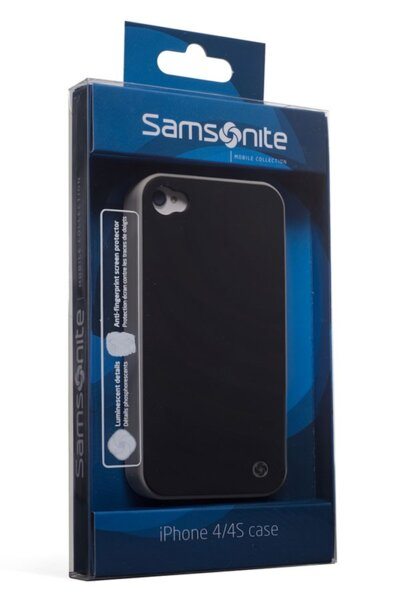 Заден протектор Samsonite - iLuminor, за iPhone 4/4s, черен