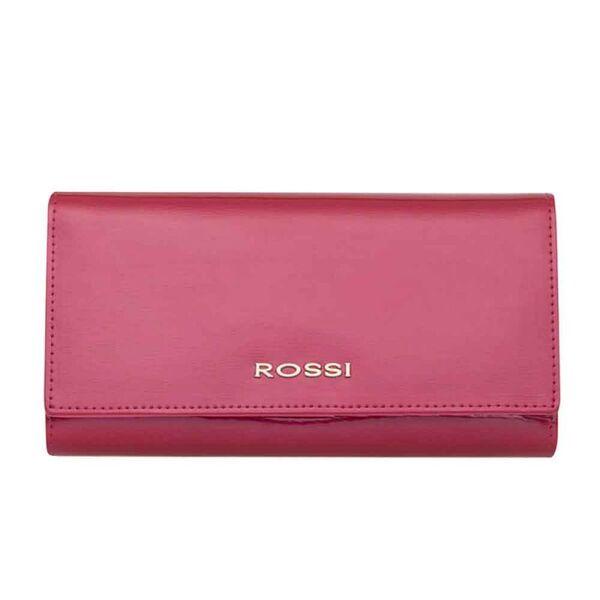 Дамско портмоне ROSSI, цвят малина, гланциран