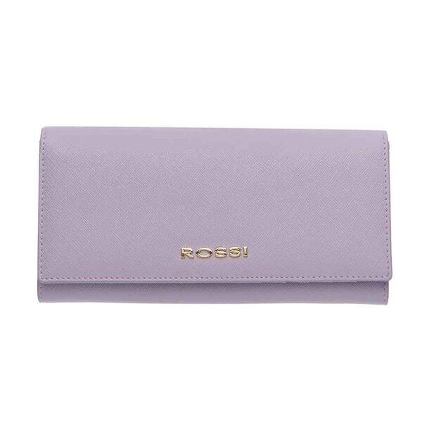 Дамско портмоне ROSSI, Сафиано цвят лавандула