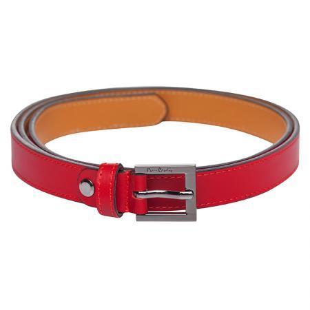 Дамски колан Pierre Cardin, с квадратна тока, червен
