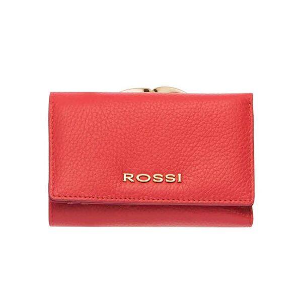 Малко дамско портмоне ROSSI, цвят корал