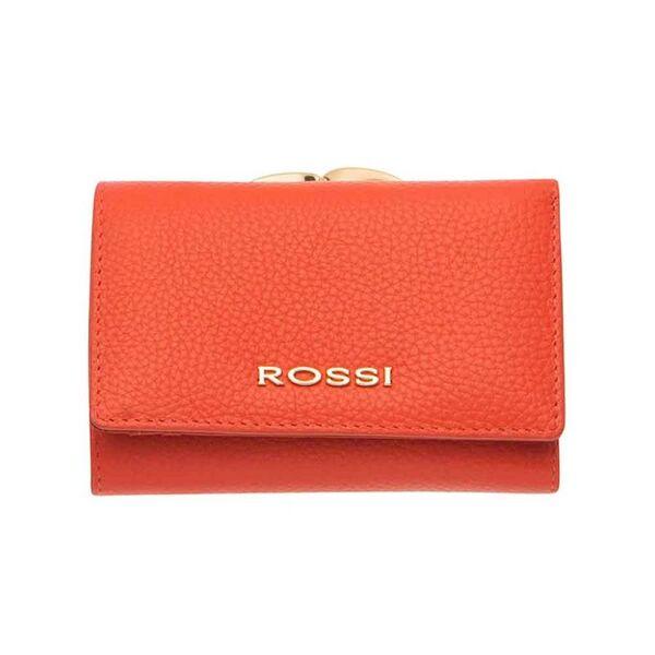 Малко дамско портмоне ROSSI, цвят оранжев