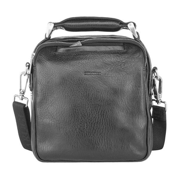 Мъжка черна чанта за през рамо CHIARUGI