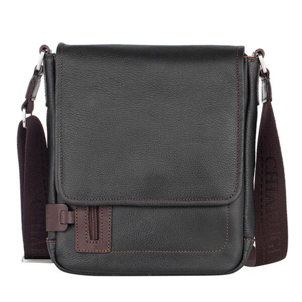 Мъжка чанта за през рамо CHIARUGI, с капак