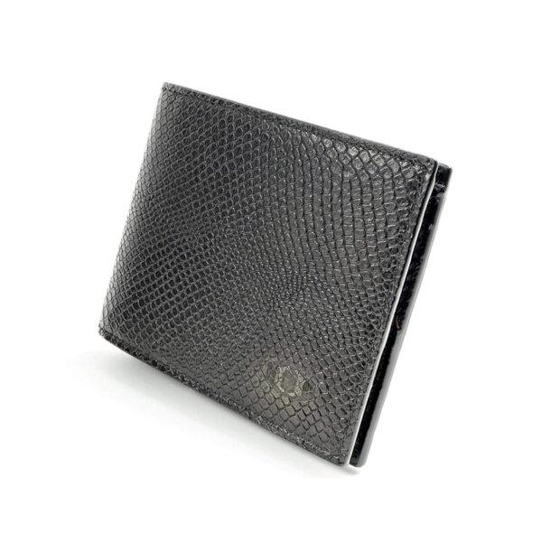 Мъжки портфейл от естествена кожа Coldfire с монетник и 6 отделения за карти - Snake Eye, черен