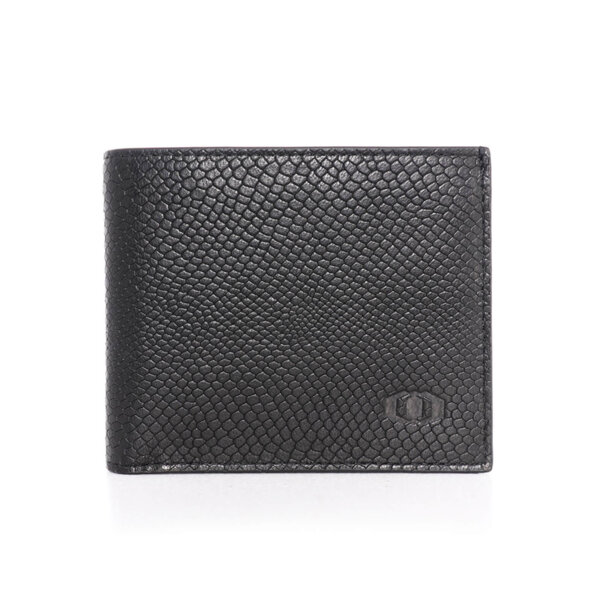 Мъжки портфейл от естествена кожа Coldfire с монетник и 4 отделения за карти - Snake Eye, черен