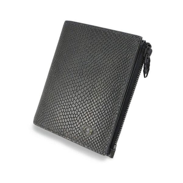 Мъжки портфейл с монетник и цип Coldfire Snake Eye - естествена кожа, RFID Защита