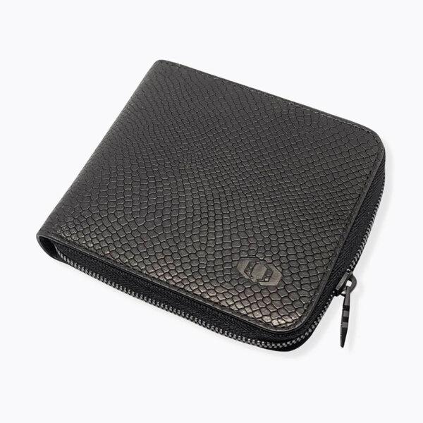 Мъжки портфейл с цип и монетник Coldfire Snake Eye - естествена кожа, RFID Защита