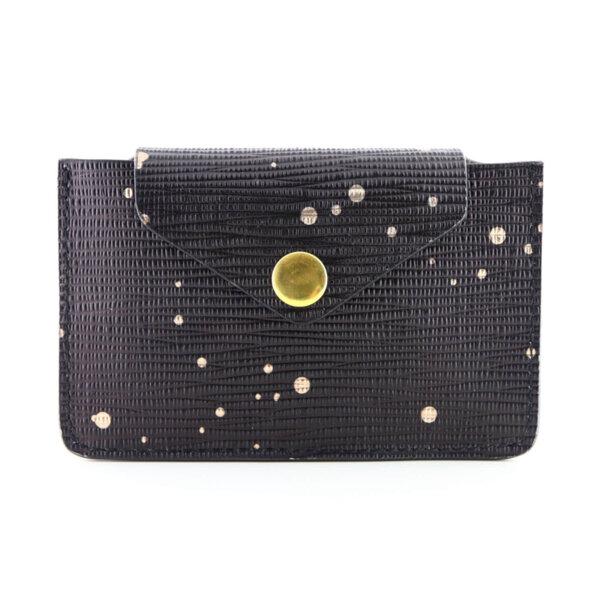 Мини дамско портмоне от естествена кожа Coldfire - Night Sky Color Vibes