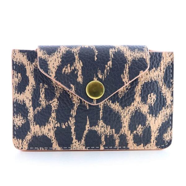 Мини дамско портмоне от естествена кожа Coldfire - Lia Color Vibes