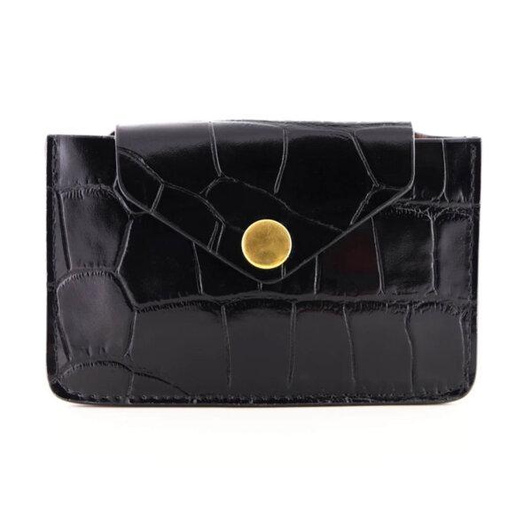 Мини дамско портмоне от естествена кожа Coldfire - Noir Color Vibes