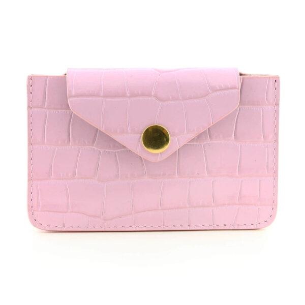 Мини дамско портмоне от естествена кожа Coldfire - Rose Color Vibes