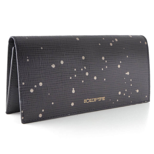 Дамско портмоне с капак Coldfire, от естествена кожа - Night Sky Color Vibes