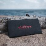 Дамско портмоне Coldfire Tactical Elegance от естествена кожа и карбон - RFID Защита, червено