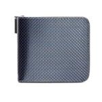 Малко дамско портмоне Coldfire Tactical Elegance с цип от естествена кожа и карбон - RFID Защита, синьо