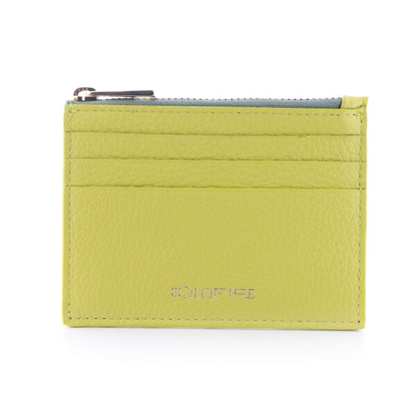 Калъф за кредитни карти с цип Coldfire от естествена кожа - Color Vibes