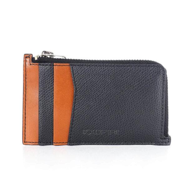 Калъф за кредитни карти и документи Coldfire с ципов монетник - Ares, RFID Защита, черен