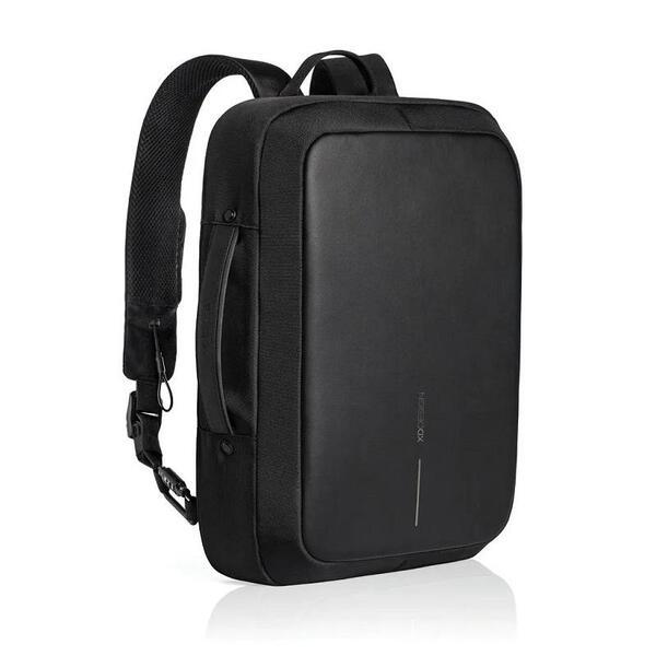 "Раница/чанта XD Design - Bobby Bizz, за лаптопи до 15.6"", RFID защита, USB порт, черна"