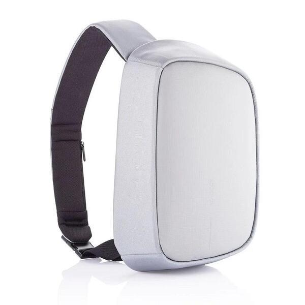 """Раница за през рамо XD Design - Bobby Sling, за таблети до 9.7"""",  RFID защита, USB порт, сива"""
