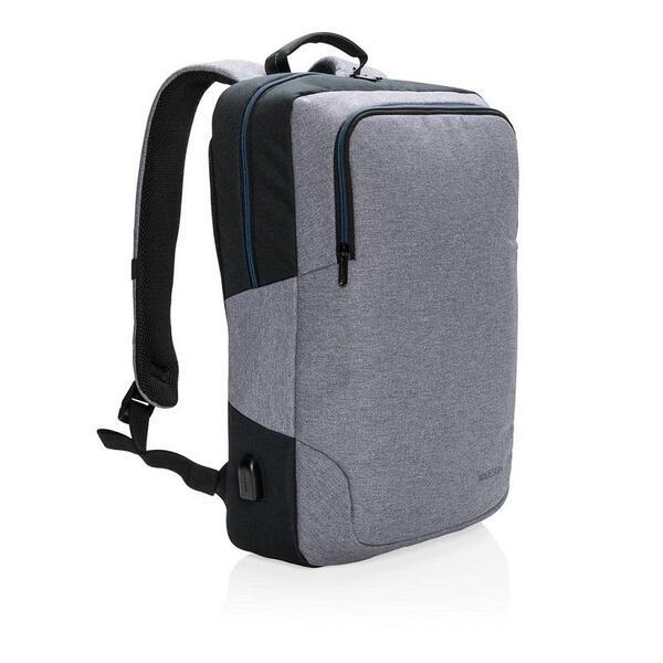 """Раница XD Design - Arata, за лаптопи до 15"""", полиестер, сива"""