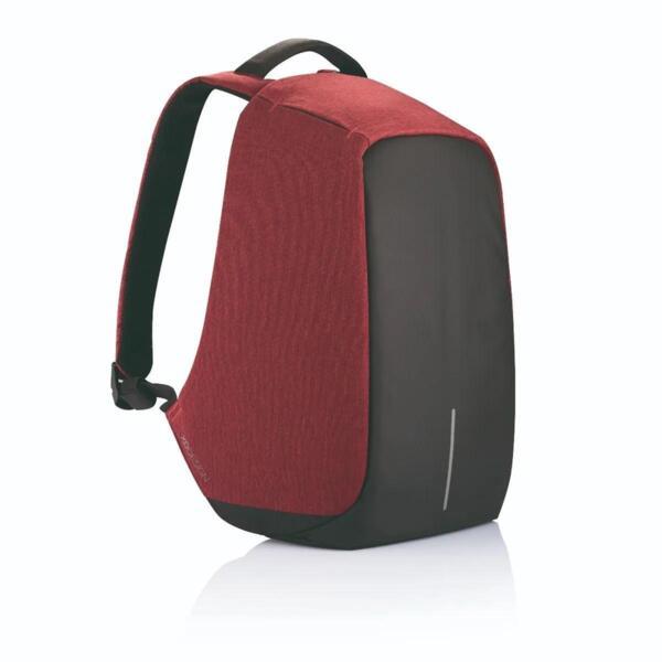 "Раница XD Design - Bobby Original , за лаптопи до 15.6"", защита от кражба, USB порт, червена"