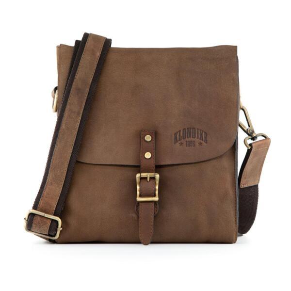 Чанта Klondike - Brad, естествена кожа, кафява