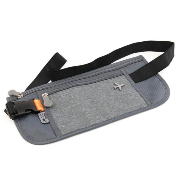Чанта за през кръста TROIKA - Sicherheitsgurt, полиестер, сива