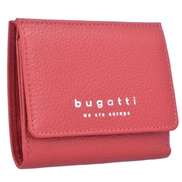 Дамски портфейл Bugatti - Linda, естествена кожа, червен