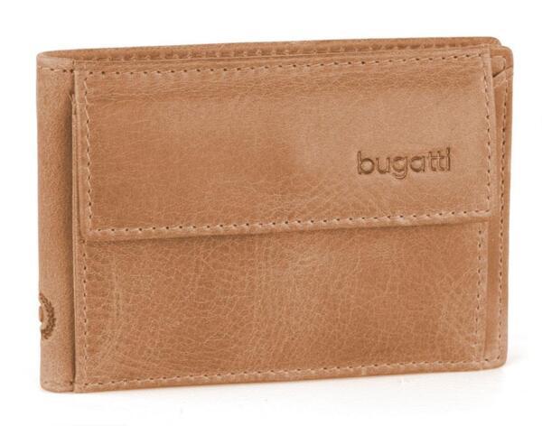 Мини портфейл Bugatti - Volo, хоризонтален, естествена кожа, кафяв