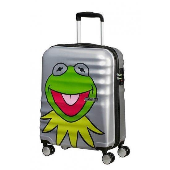American Tourister Спинер на 4 колела 55 см. Wavebreaker Kermit Sparkle