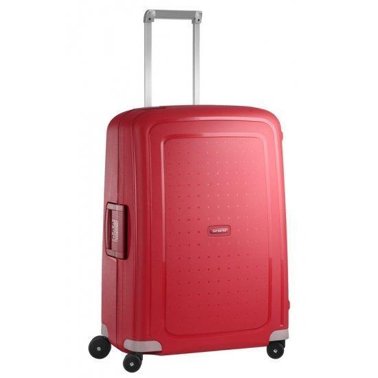 Спинер на 4 колела S'Cure 69 см пурпурно червен цвят, среден размер