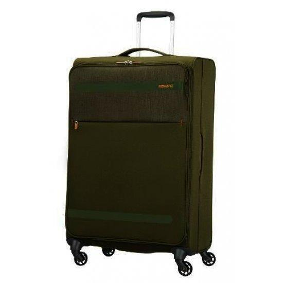 American Tourister зелен спинер на 4 колела Herolite 74 см
