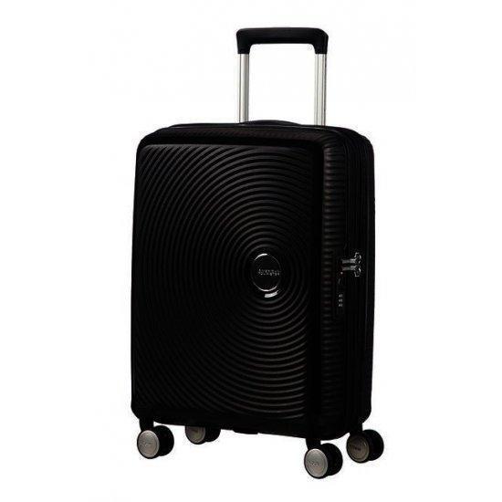 American Tourister Soundbox спинер на 4 колела 55cm с разширение в черен цвят