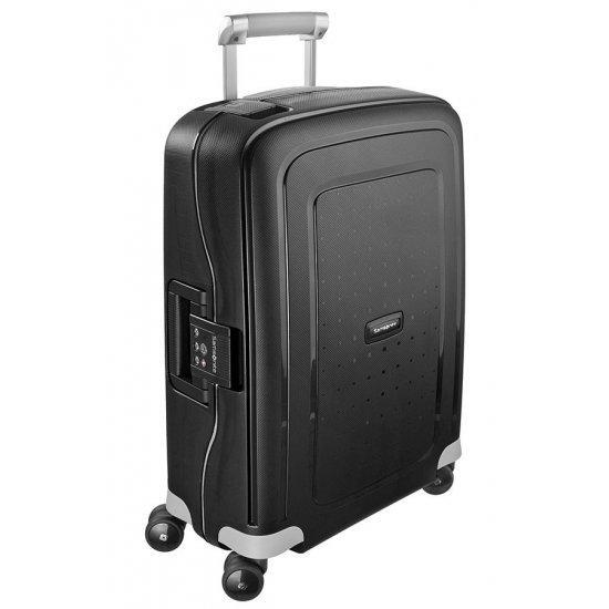 Спинер на 4 колела S'Cure 55 см черен цвят, размер за ръчен багаж