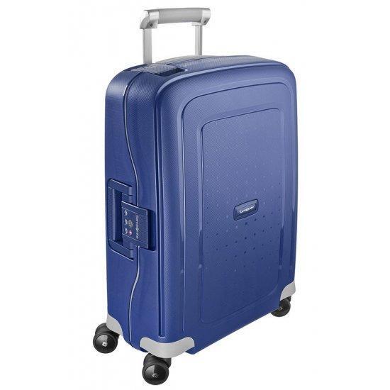 Спинер на 4 колела S'Cure 55 см тъмно син цвят, размер за ръчен багаж