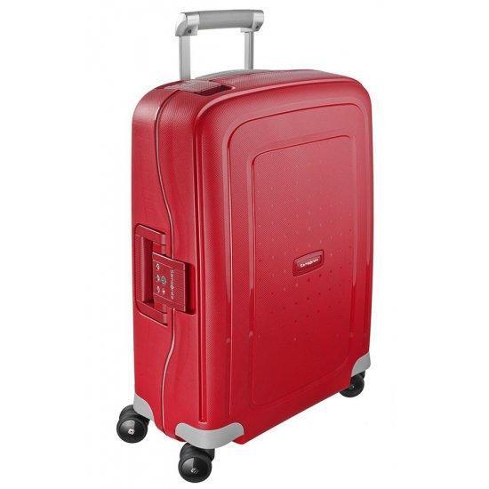 Спинер на 4 колела S'Cure 55 см пурпурно червен цвят, размер за ръчен багаж