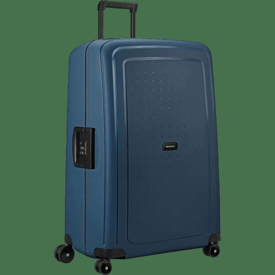 Куфар на 4 колела Samsonite S'cure Eco  81см. височина тъмно син цвят